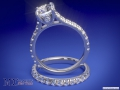 ES655BR Cathedral Surprise Diamond Engagement Ring & Matching Wedding Band